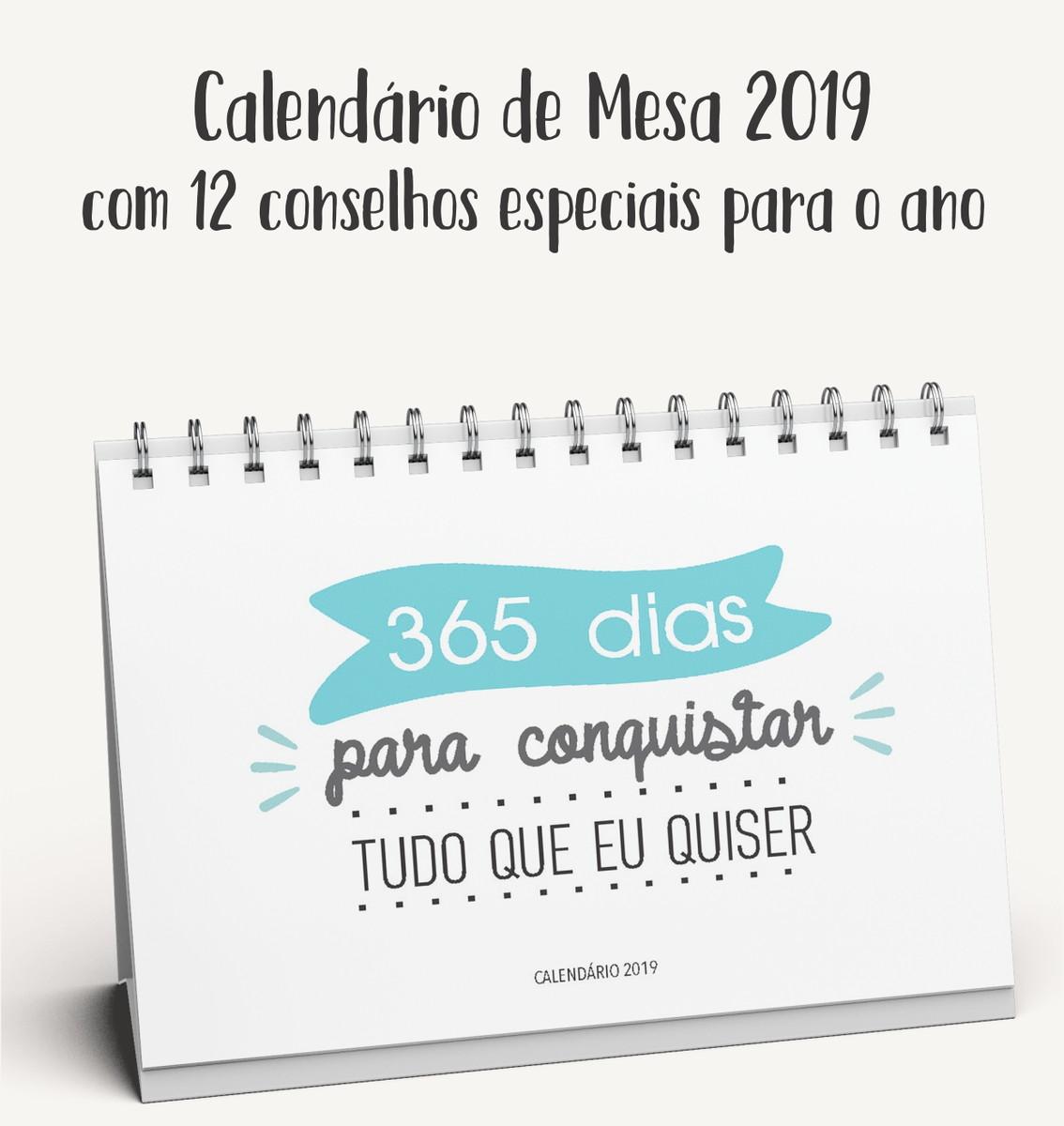 Calendario De Mesa Frases Tamanho A6 15x10cm