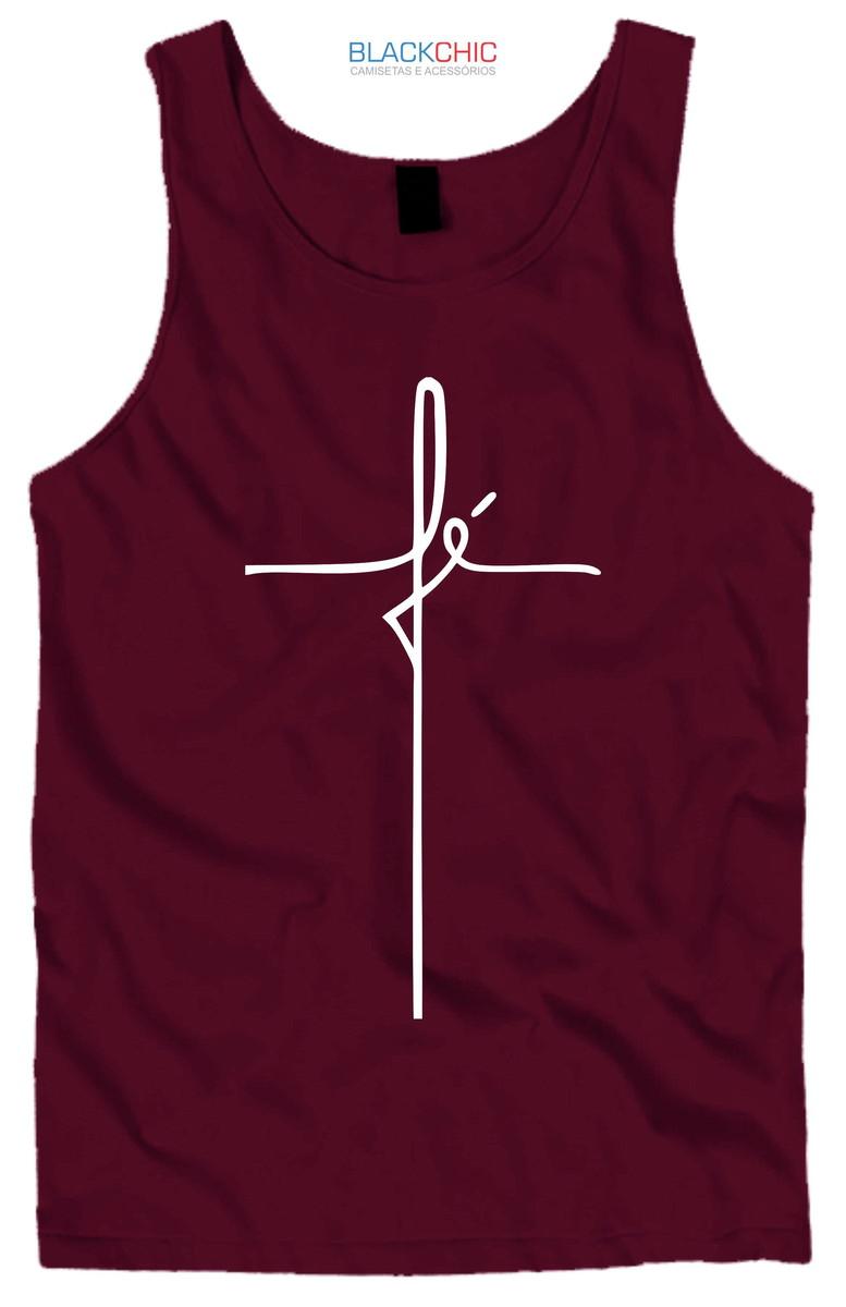 Camiseta regata Fé + Brinde no Elo7  3baeb6793d6b5