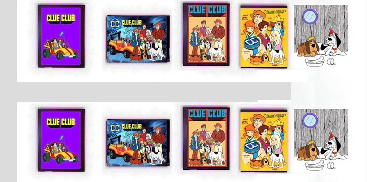 Quadro Clue Club Cartoon Desenho Animado Anos 80 90 Retro