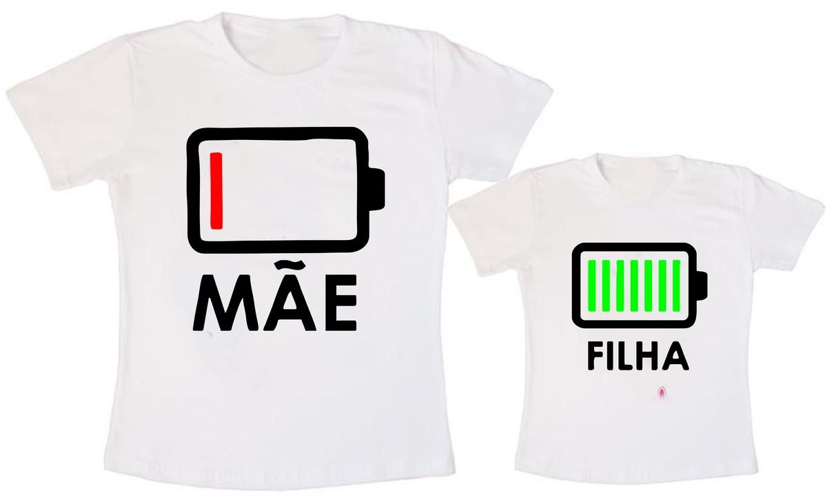 a7ae0d5dfc Camiseta Tal Mãe Tal Filha Carregando Bateria no Elo7