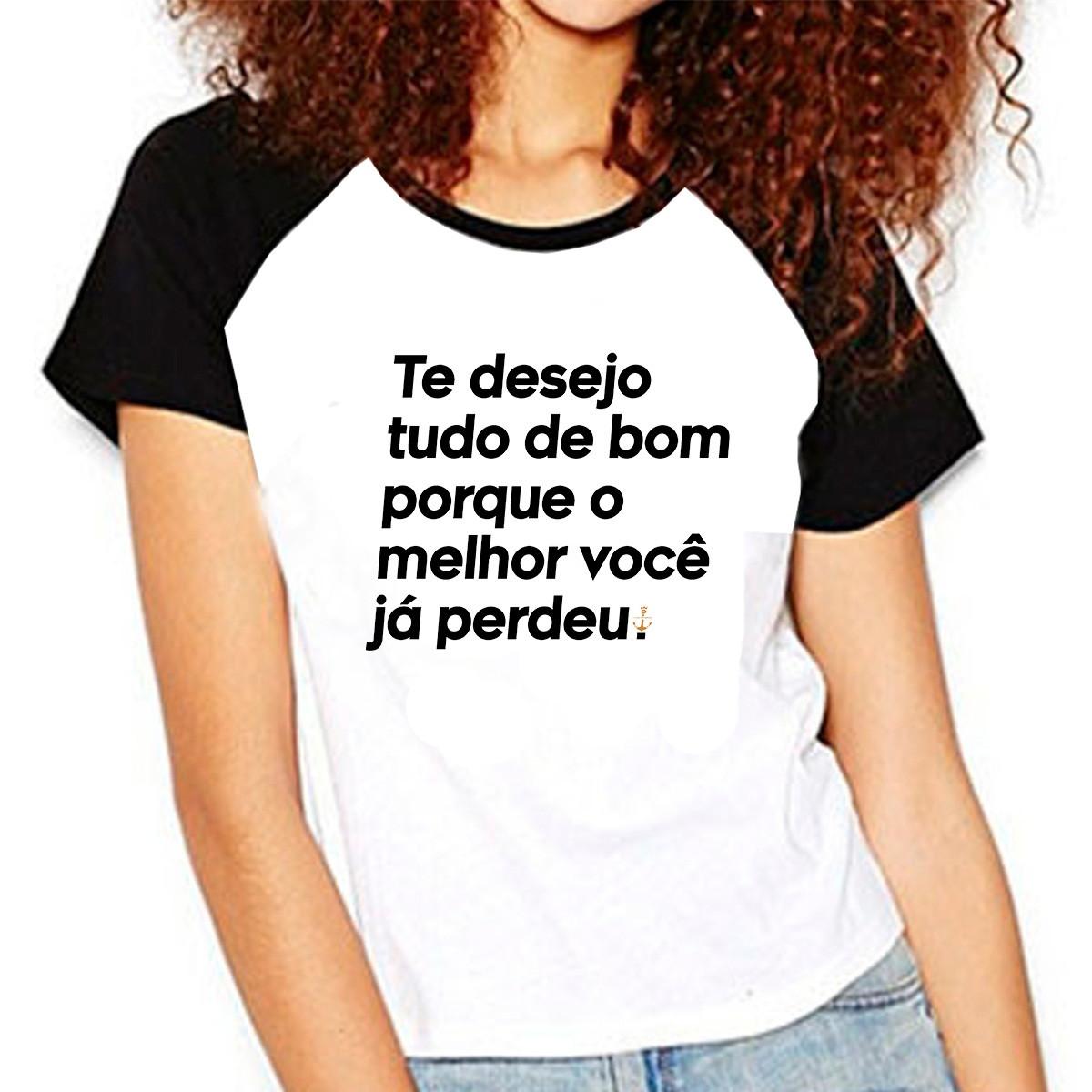 2fca2d56a Camiseta Raglan Frases Te Desejo Tudo de Bom O Melhor Voce no Elo7 ...