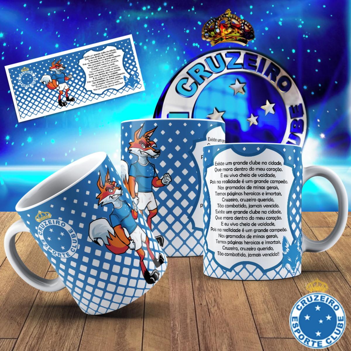 073cba41a3 Caneca cerâmica - Cruzeiro personalizada com hino no Elo7