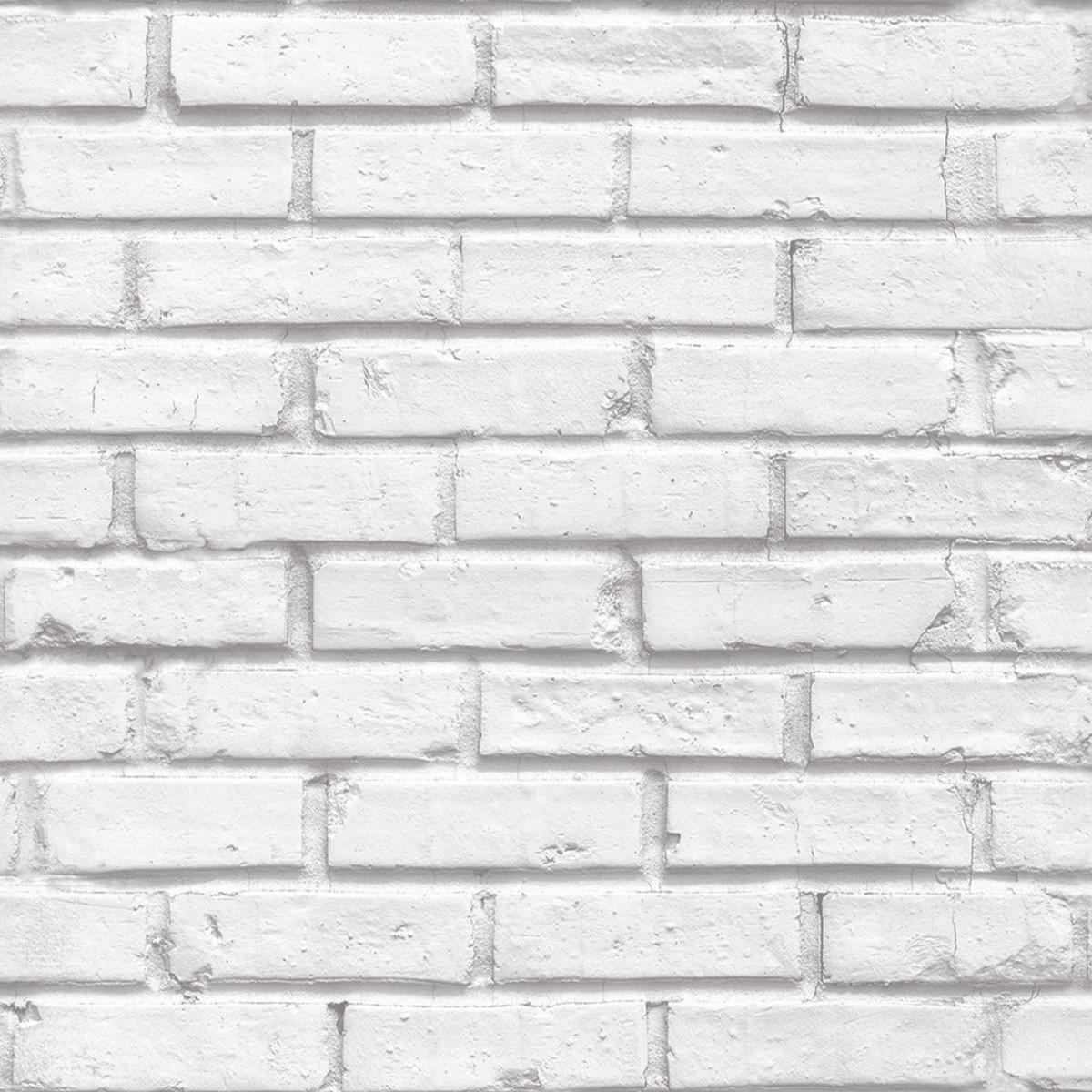 5085900a5 Papel de Parede Vinílico Tijolinho Branco Demolição Importad no Elo7 ...