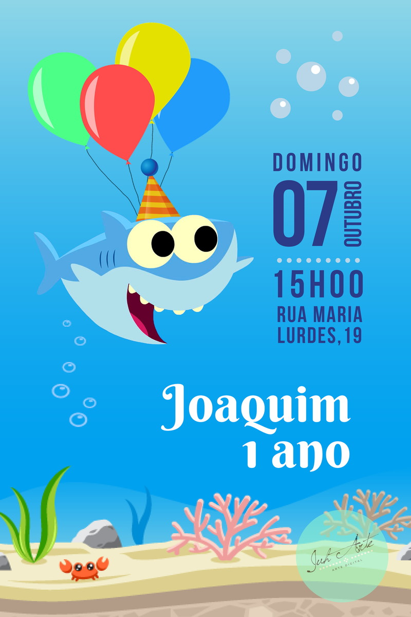 Convite Virtual Baby Shark No Elo7 Juh Arte Df69d7