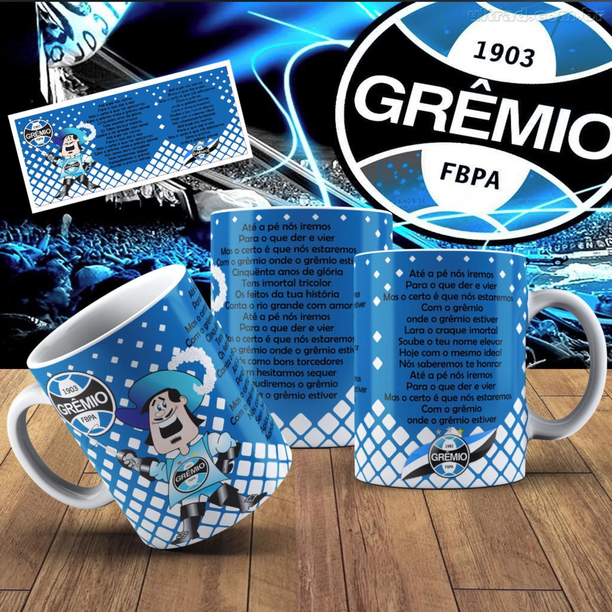 0a61745a5472d Caneca cerâmica - Grêmio personalizada com hino no Elo7