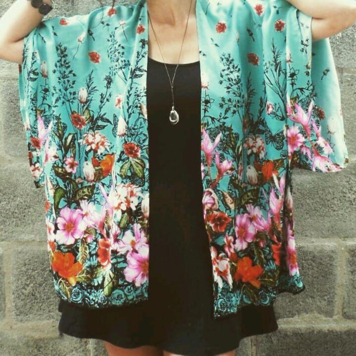 a80d837935 Kimono Feminino Moda Boho Saida de Praia no Elo7