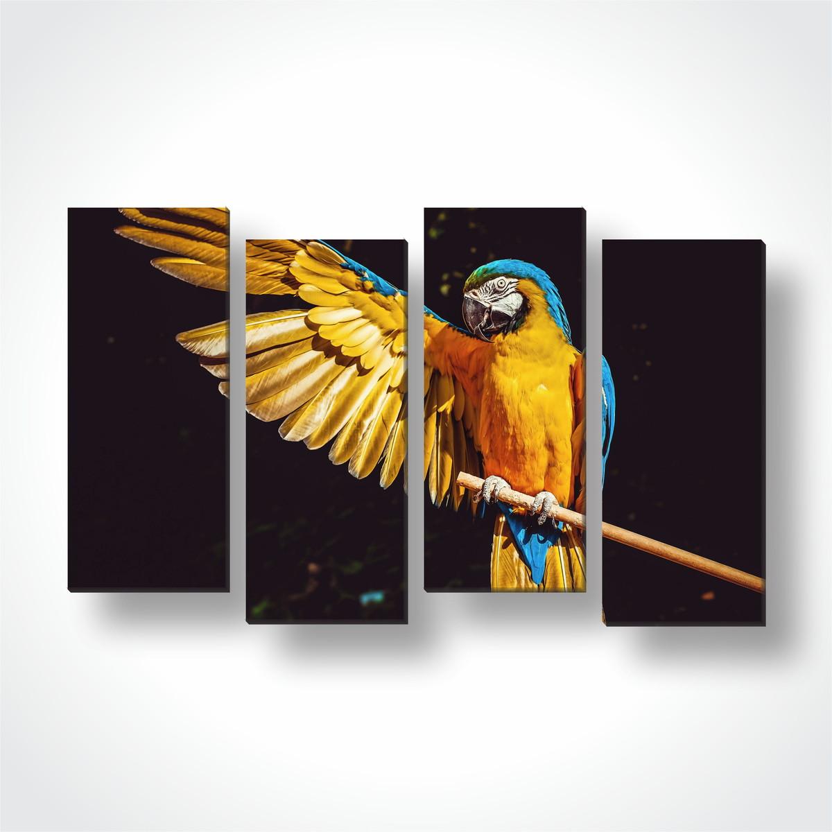 c8a1ff72f 4 Quadros Mosaico Decorativo em Tecido Arara Azul e Amarela no Elo7 ...