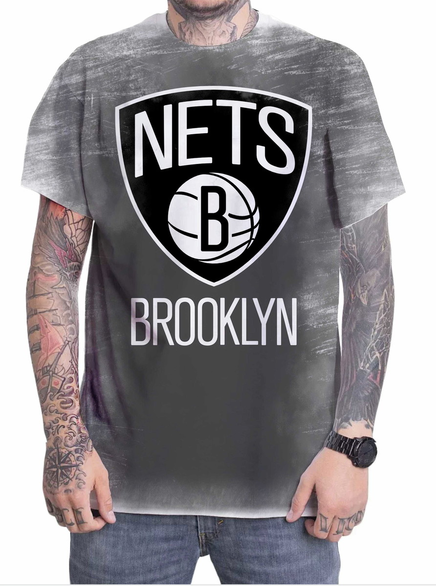Camiseta Camisa Personalizada Time Basquete Brooklyn Nets 01 no Elo7 ... 45995581010