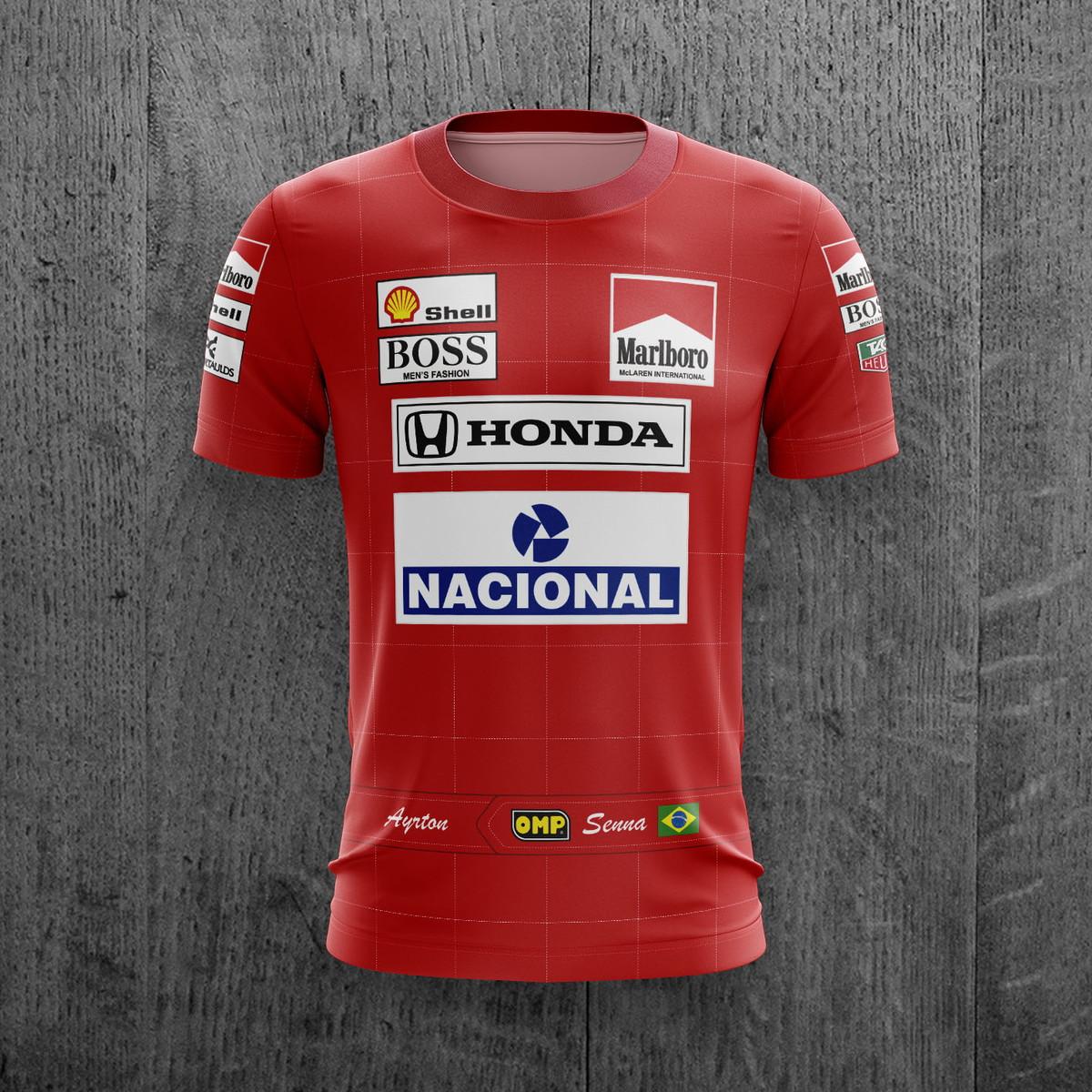 e2b39a8904 Camiseta Ayrton Senna McLaren Fórmula 1 Corrida no Elo7