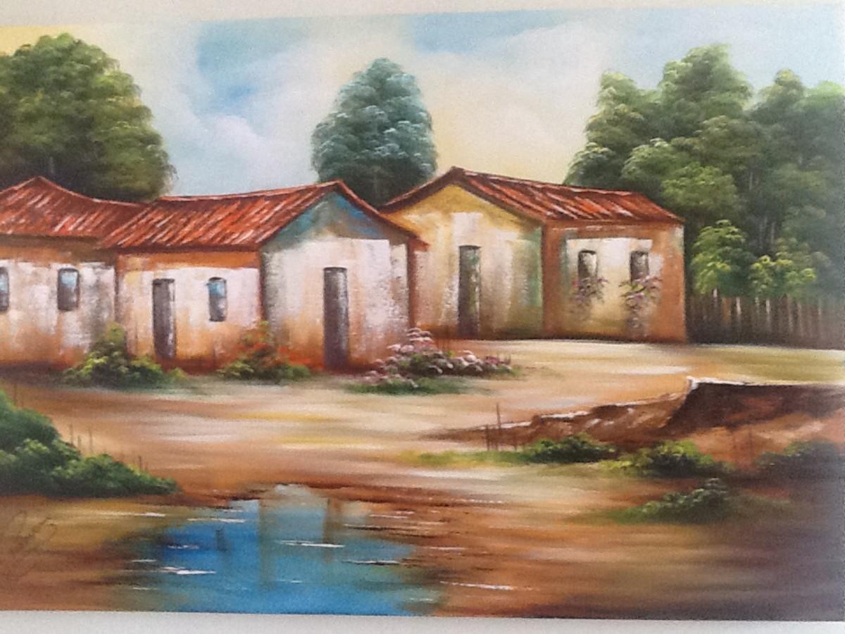 Pintura Em Tela Painel Casario 80x120 Black Friday No Elo7