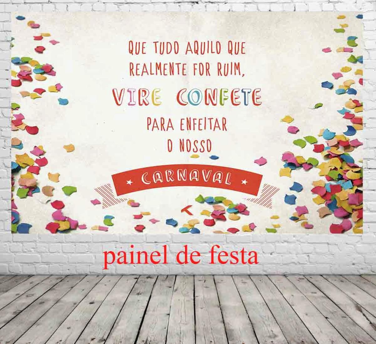 Painel De Festa Com Frase De Carnaval