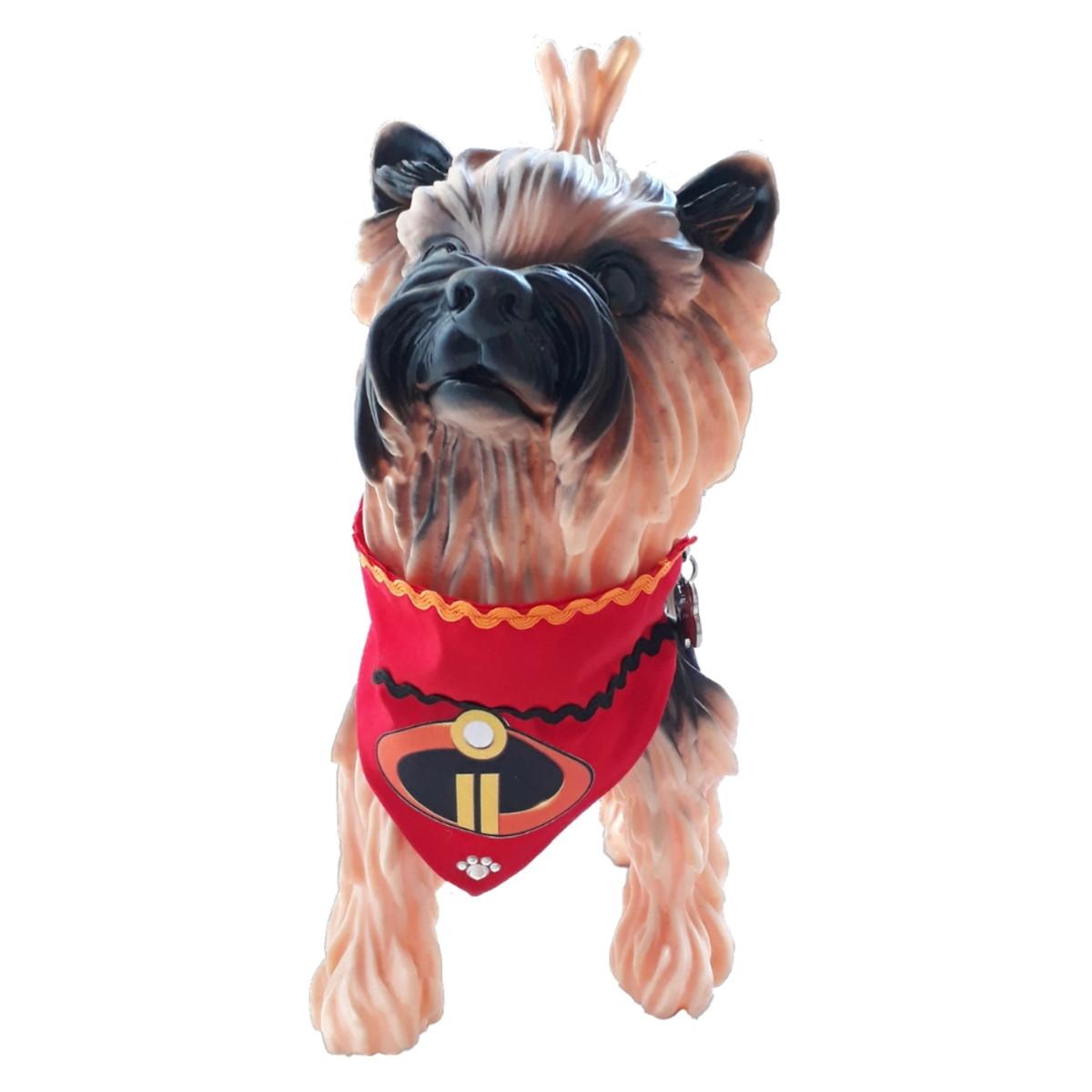 b07d37295c064c Coleira Bandana para Cachorro e Gato Vermelha Incríveis PP