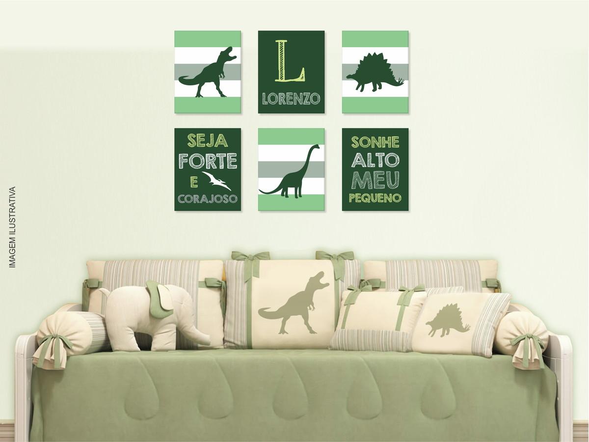 b32e266850c286 Quadros dinossauros decoração dinossauro