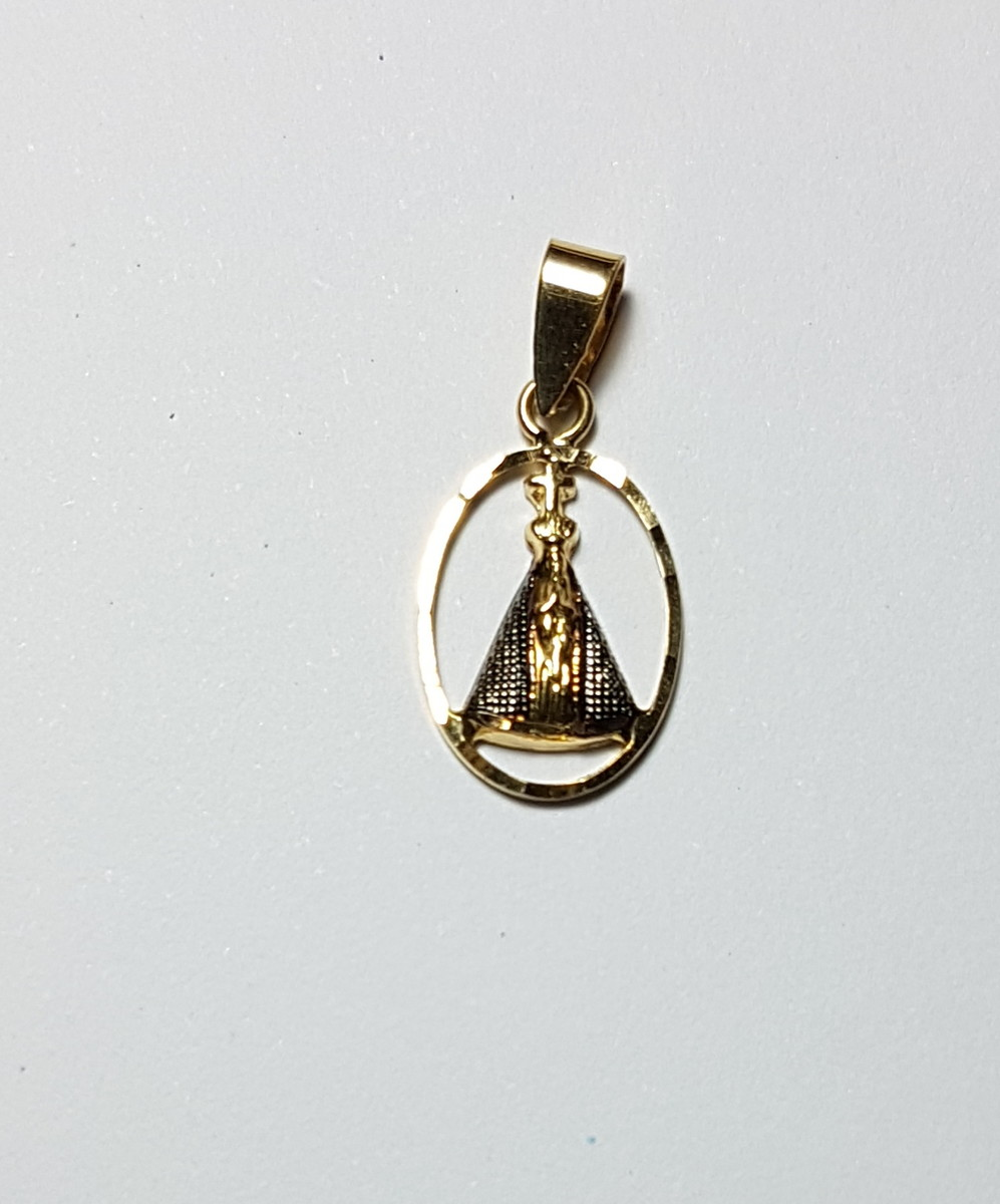 Pingente em Ouro 18K Nossa Senhora da Aparecida no Elo7   HRZ JÓIAS ... 2586c86ccc