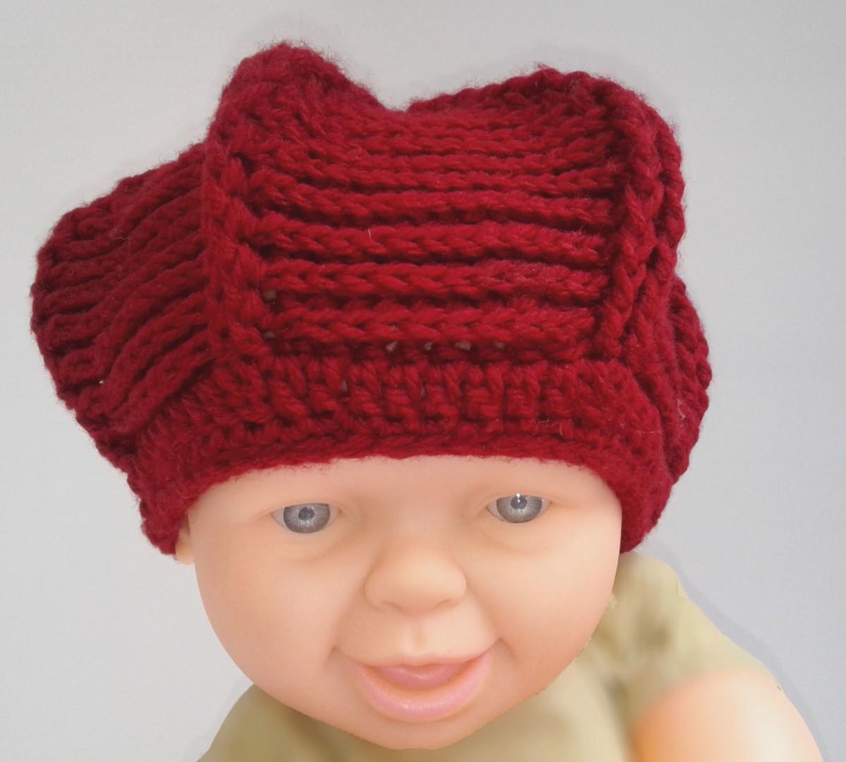 Boina Infantil Crochê - 03 a 06 meses no Elo7  f0ef0f4f708