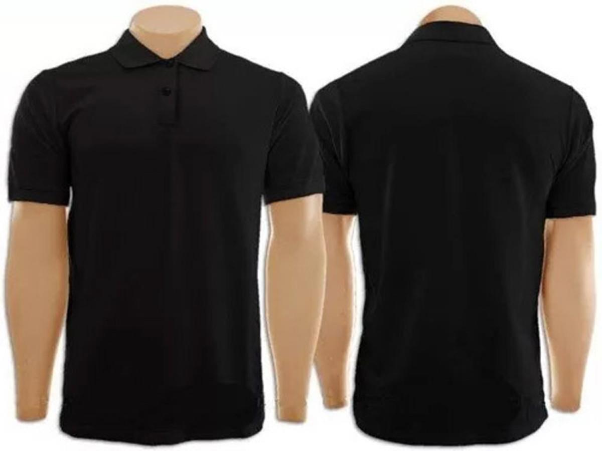 9f6906ac96 Camiseta Gola Polo Preto Masculina no Elo7