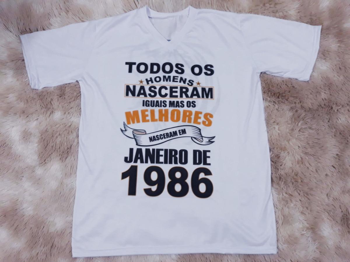 Camiseta Homens Nascidos em JANEIRO - PERSONALIZADA no Elo7  fb75b045958