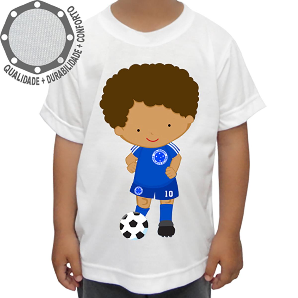 7b4c5217402d0 Camiseta Cruzeiro Menino Bola no Elo7