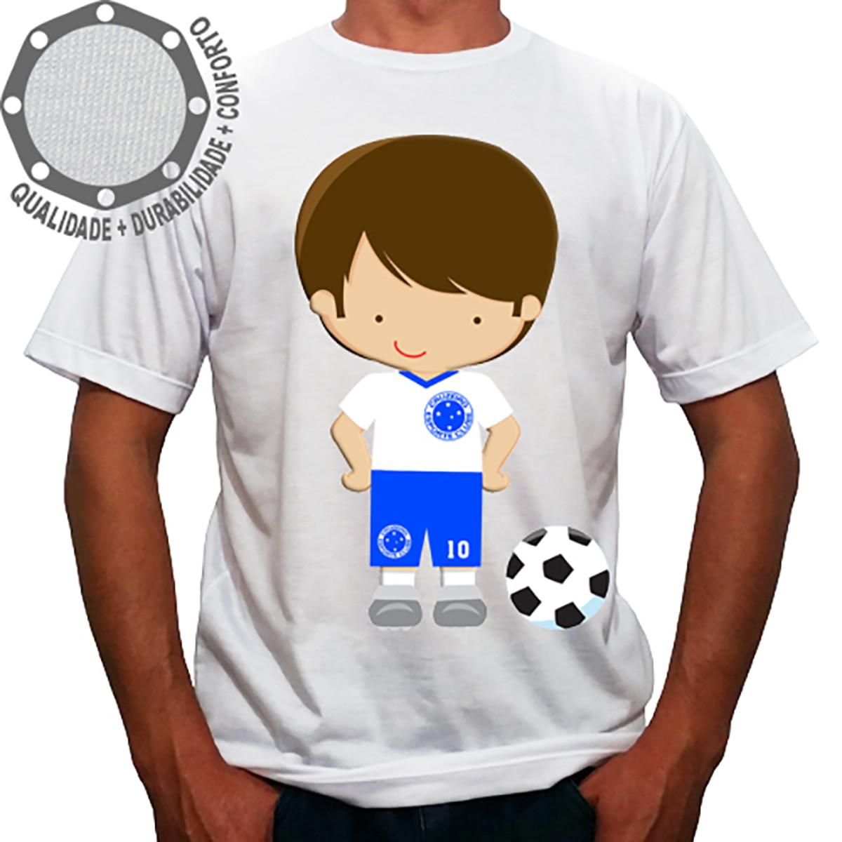 fc9b68b0c1c21 Camiseta Cruzeiro Menino Uniforme Branco no Elo7