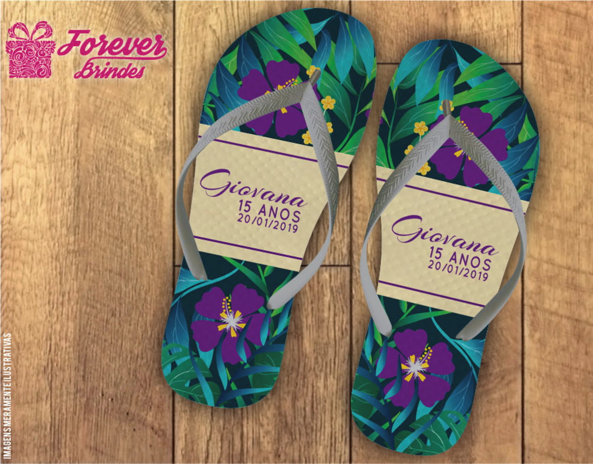 fc7259cf7 CHINELO PERSONALIZADO - TROPICAL no Elo7 | FOREVER BRINDES CHINELOS ...