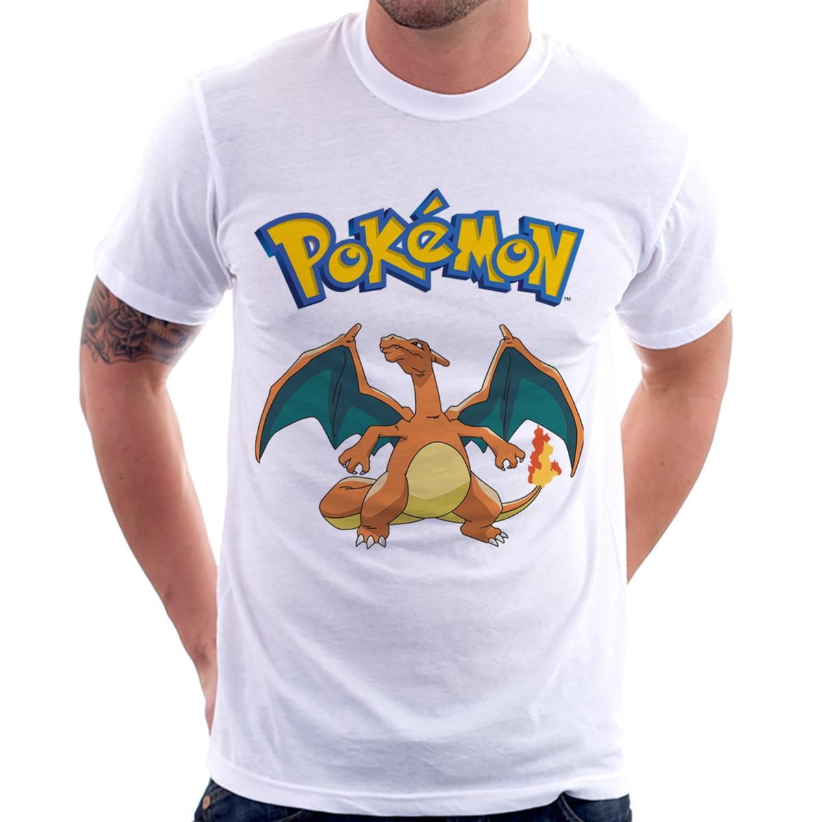 e0e952597f Camiseta Pokémon Charizard no Elo7