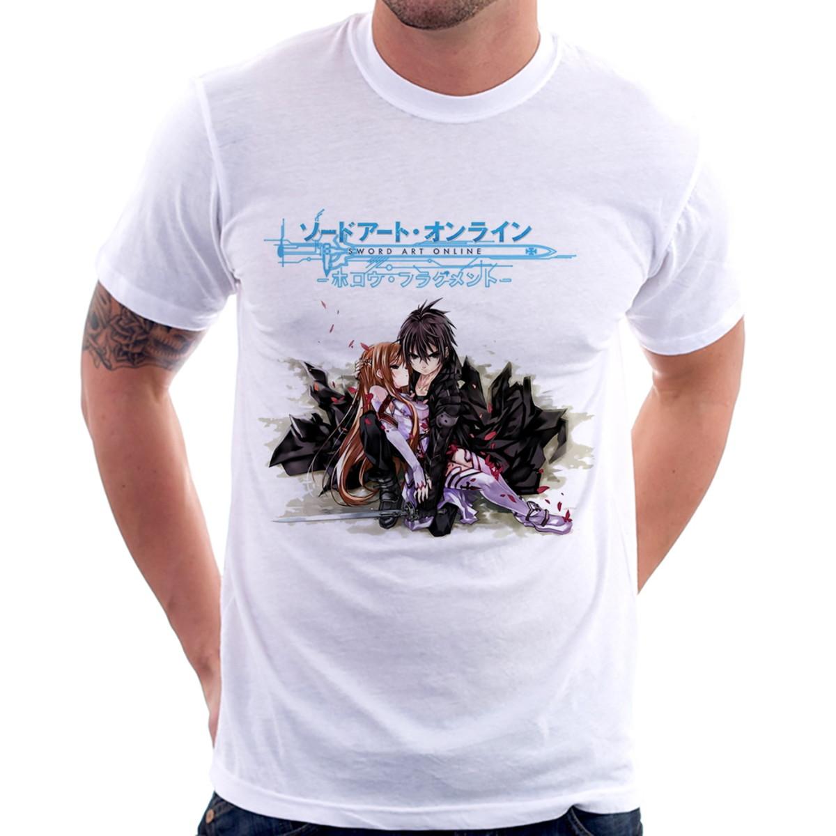 9b9ec617c Camiseta Sword Art Online Asuna Yuuki e Kirito no Elo7