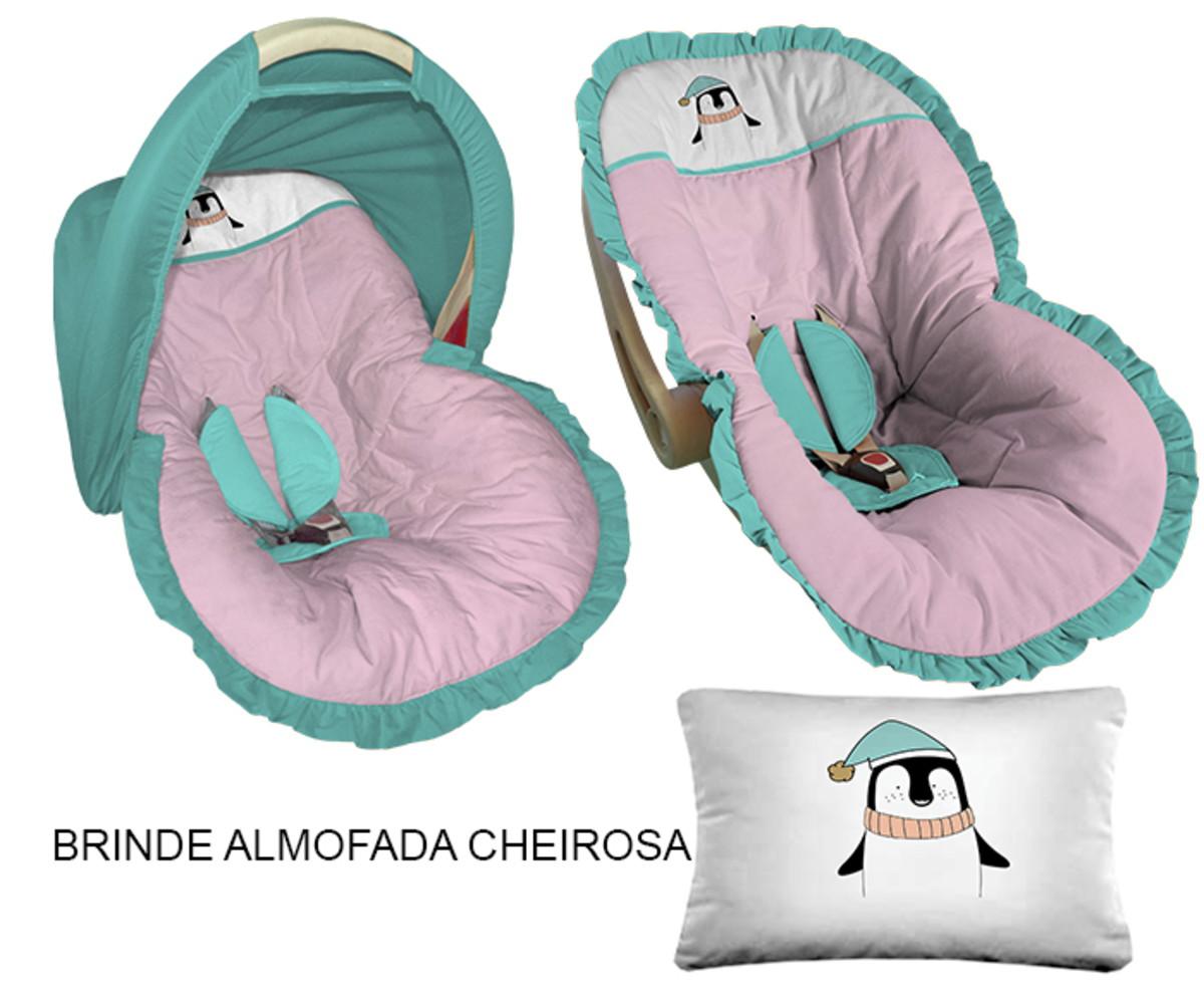 9b195bb0af Capa Bebê Conforto Capota Tiffany Rosa Pinguim Campinas no Elo7 ...