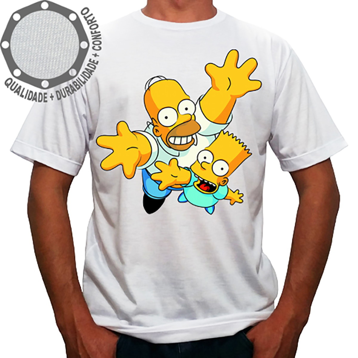 5f117db2c3867 Camiseta Os Simpsons Homer Bart Up no Elo7 | Camisetas P4 (E07D37)