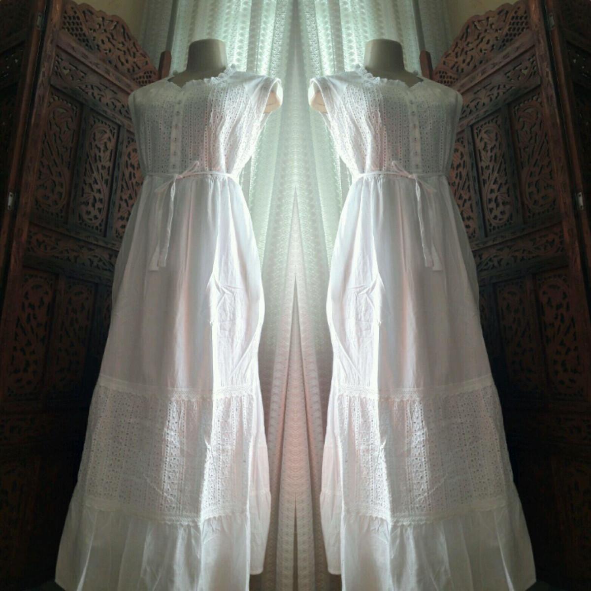 45c3d4a3f7e3 vestido branco longo algodão laise renda grupir festa no Elo7 ...