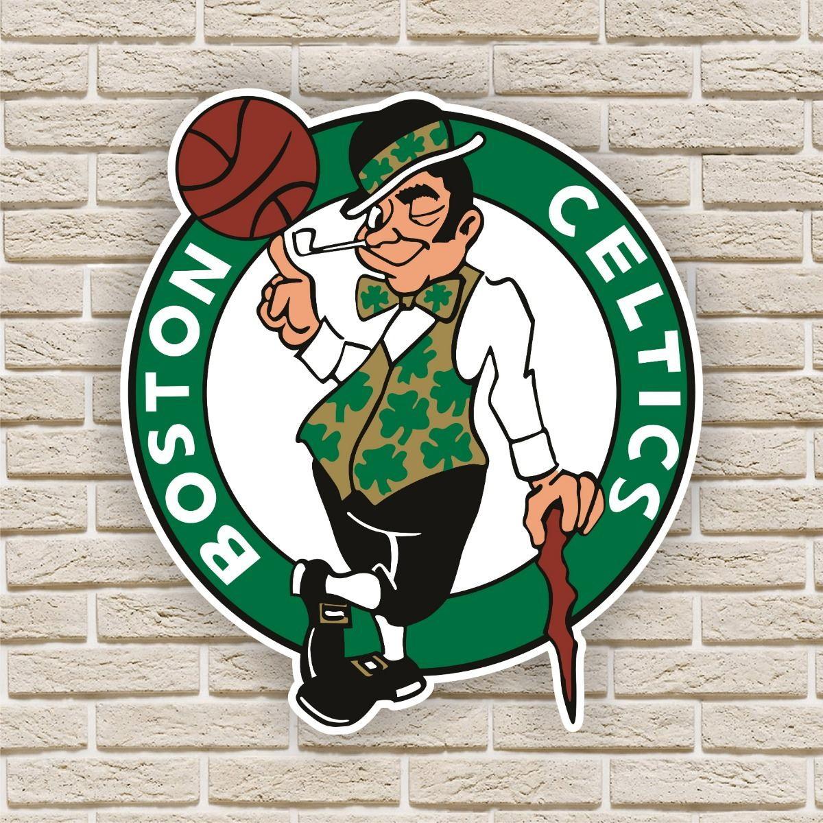 cab51cf90 Quadro Decorativo Boston Celtics Nba Basquete no Elo7