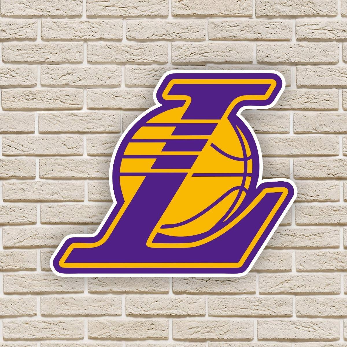 c314a3f0d Quadro Decorativo Los Angeles Lakers Nba Basquete no Elo7