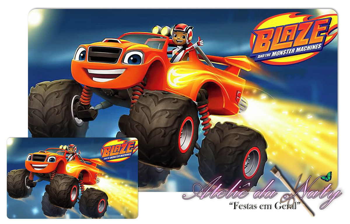 Jogo Americano Blaze The Monter Machine No Elo7 Atelie Da Naty