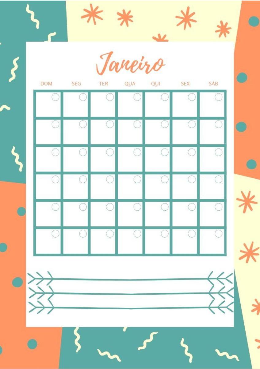 Calendario.Calendario Infinito Mensal Para Baixar 2019