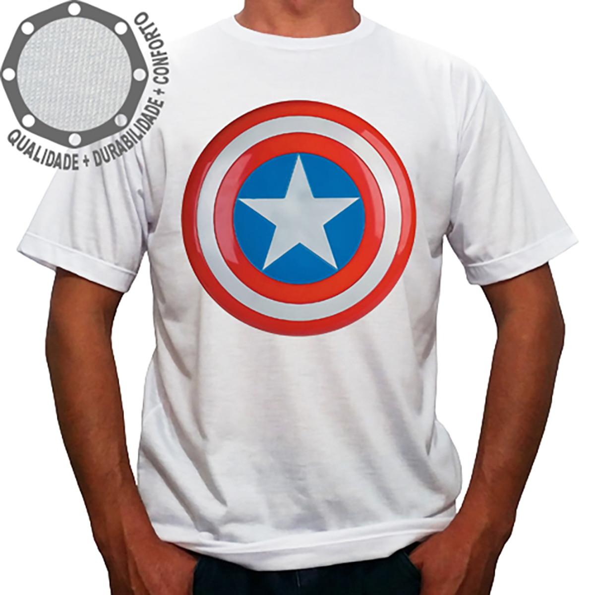 c51c08c49f Camiseta Capitão América Escudo no Elo7
