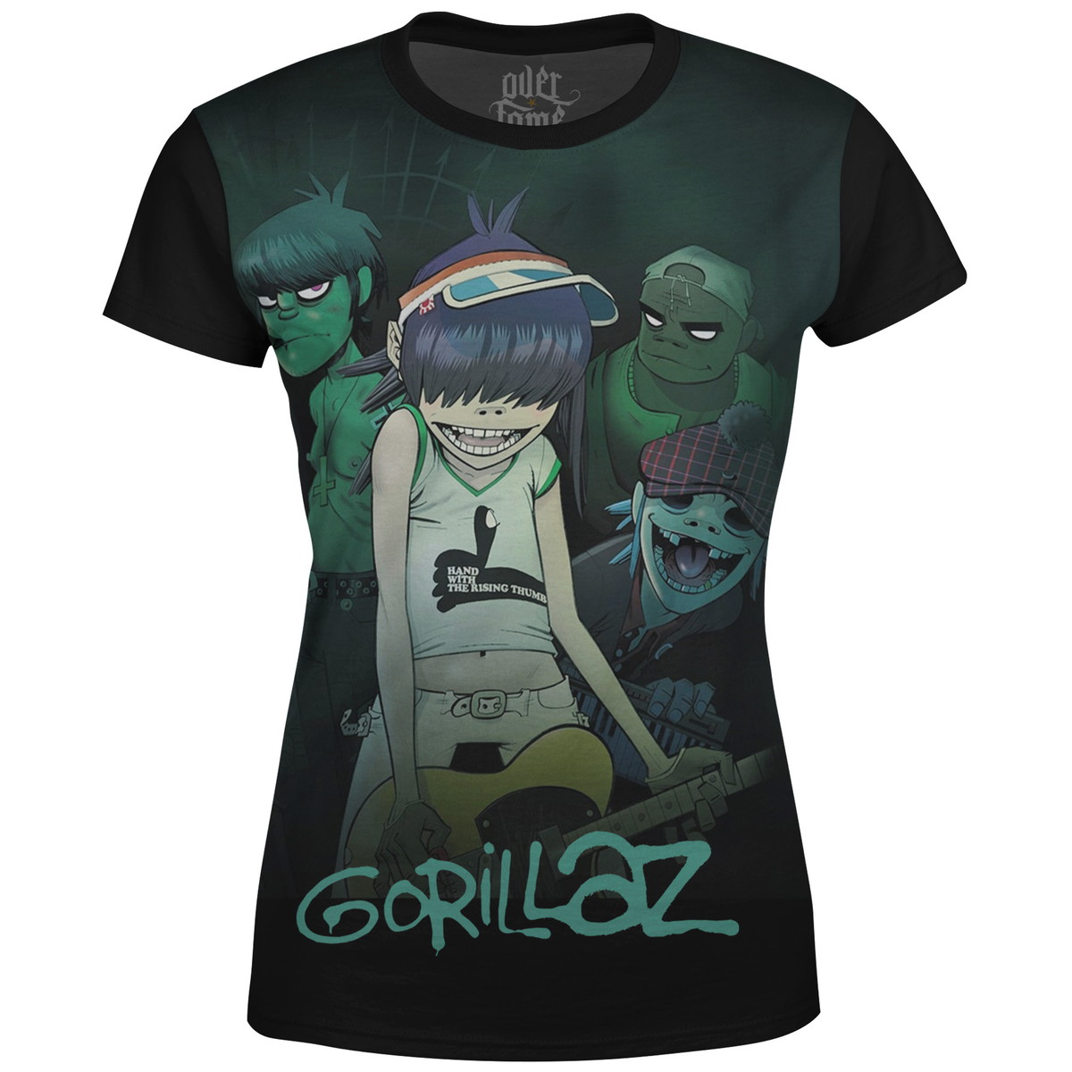 Camiseta Baby Look Feminina Gorillaz Estampa digital md01 no Elo7 ... 2ab32060f431b