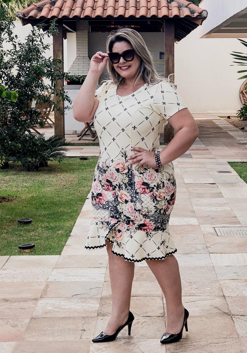 8bd578ea4 Vestido midi tubinho malha piquet, Elegance Plus Size no Elo7 ...
