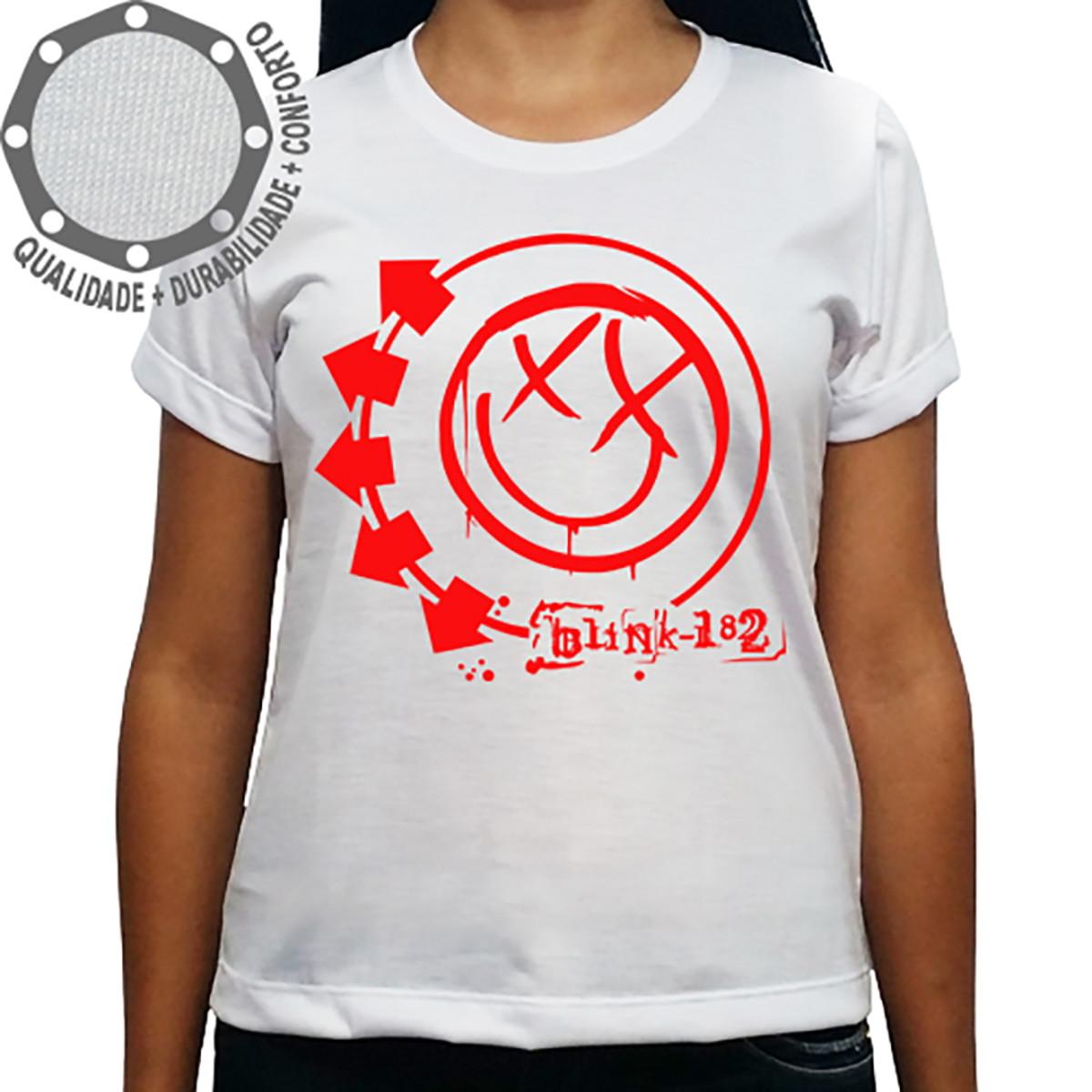 Camiseta Blink-182 Logo Vermelho no Elo7  204cd00c50fe9