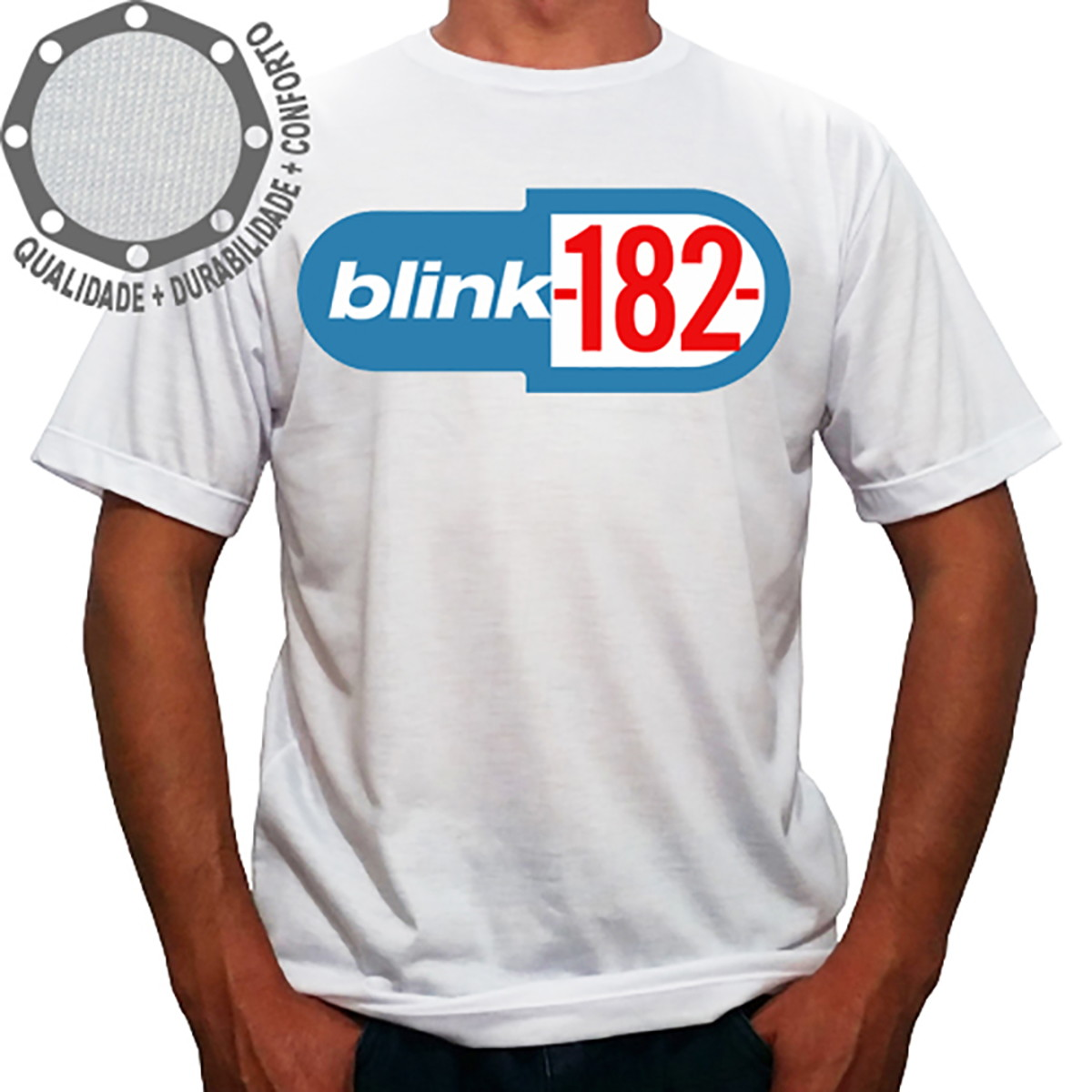 Camiseta Blink-182 Logo Azul no Elo7  5460b1ce4a61c