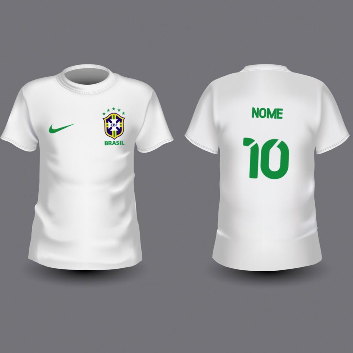 Camiseta Infantil Brasil Personalizada no Elo7  b1b73b3f7062a