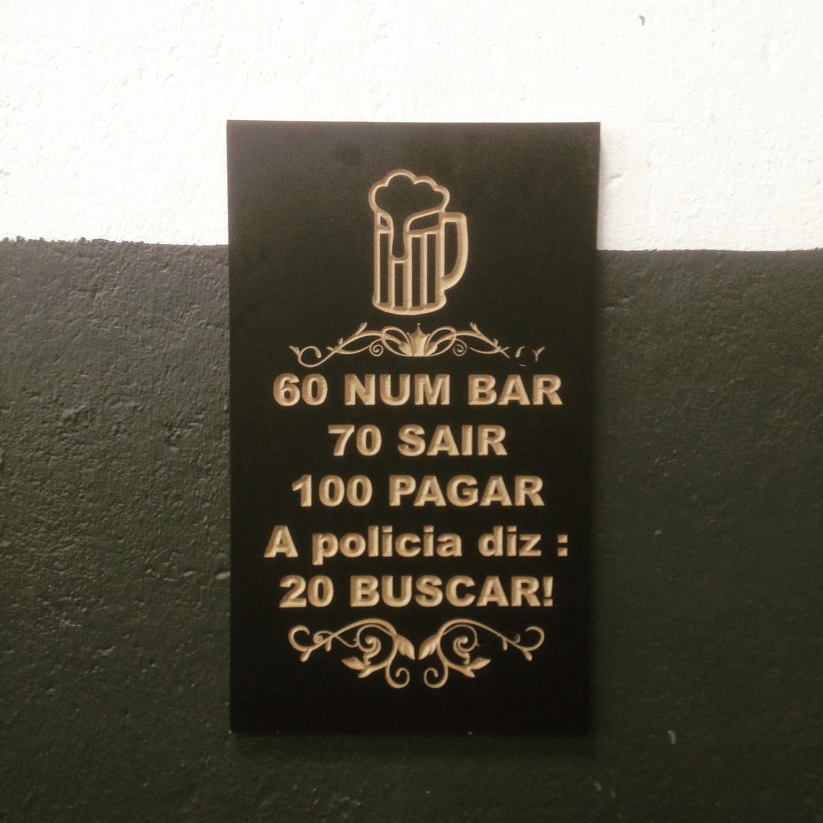 Quadro Frases De Bar 60