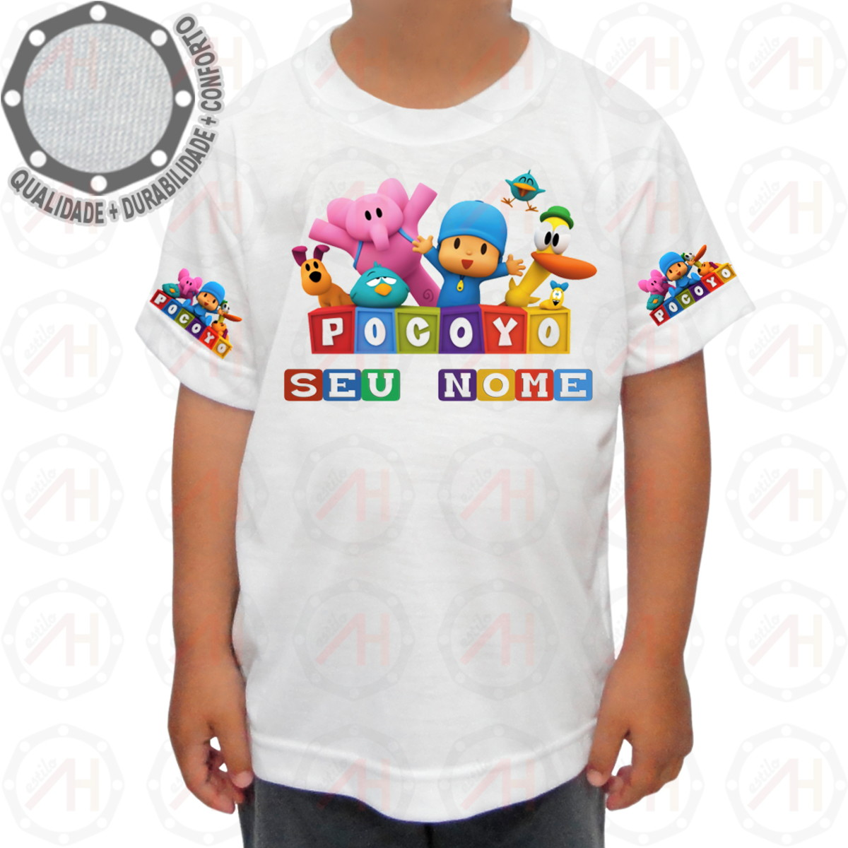 Camiseta Pocoyo Personagens Pose no Elo7  3cb7b8c1d6215