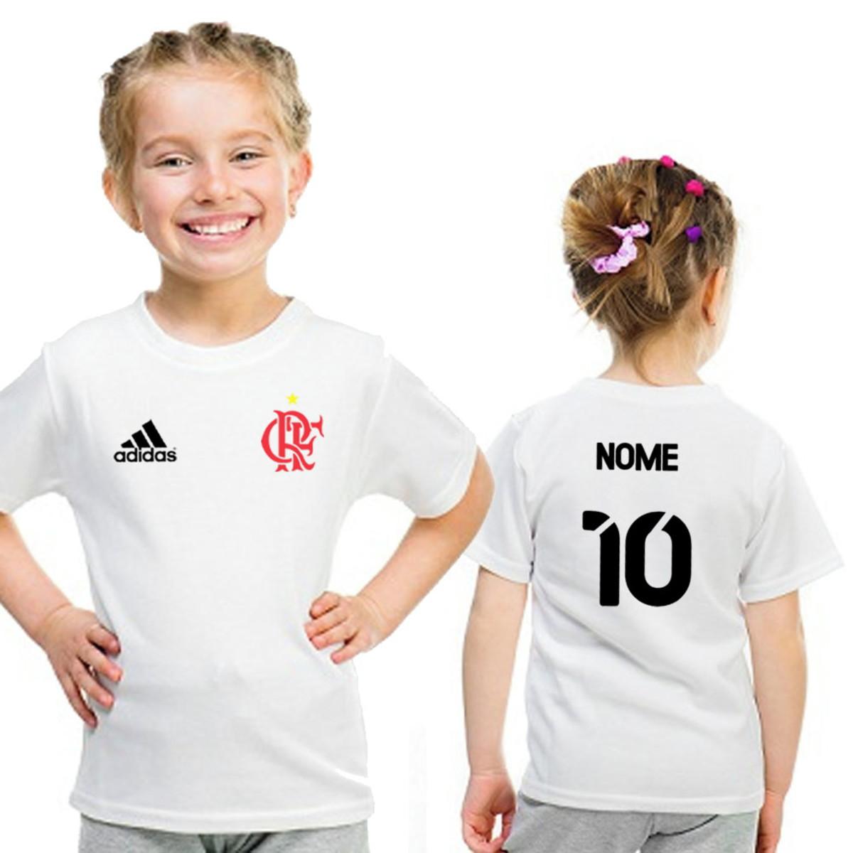 86c1c60287565 Camisa Infantil Flamengo Feminina com Nome no Elo7