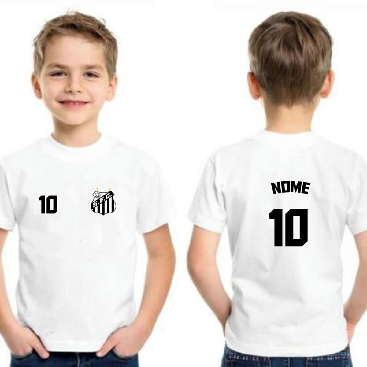 Camiseta Infantil Santos Personalizada no Elo7  69e4221e63268