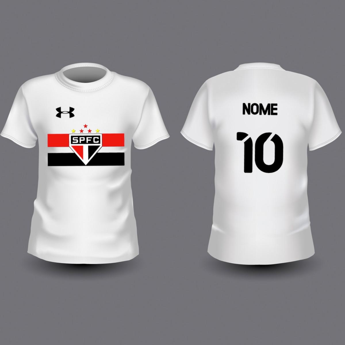 a091f272c Camiseta Infantil São Paulo Personalizada no Elo7 | Território do ...