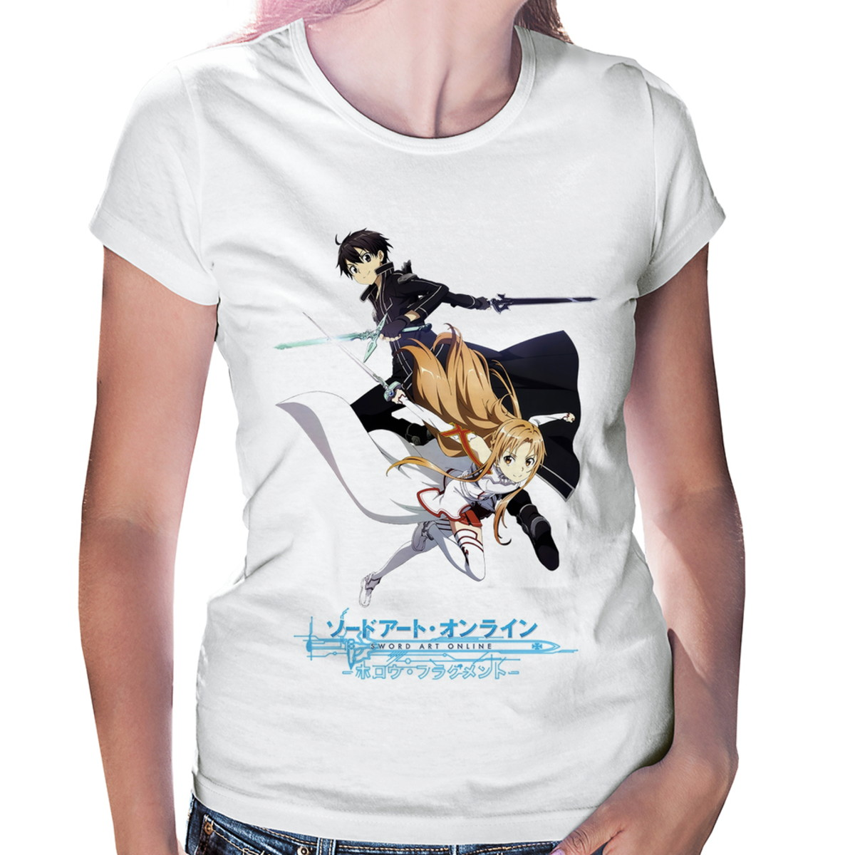 83c30af08 Baby Look Sword Art Online Kirito e Asuna no Elo7
