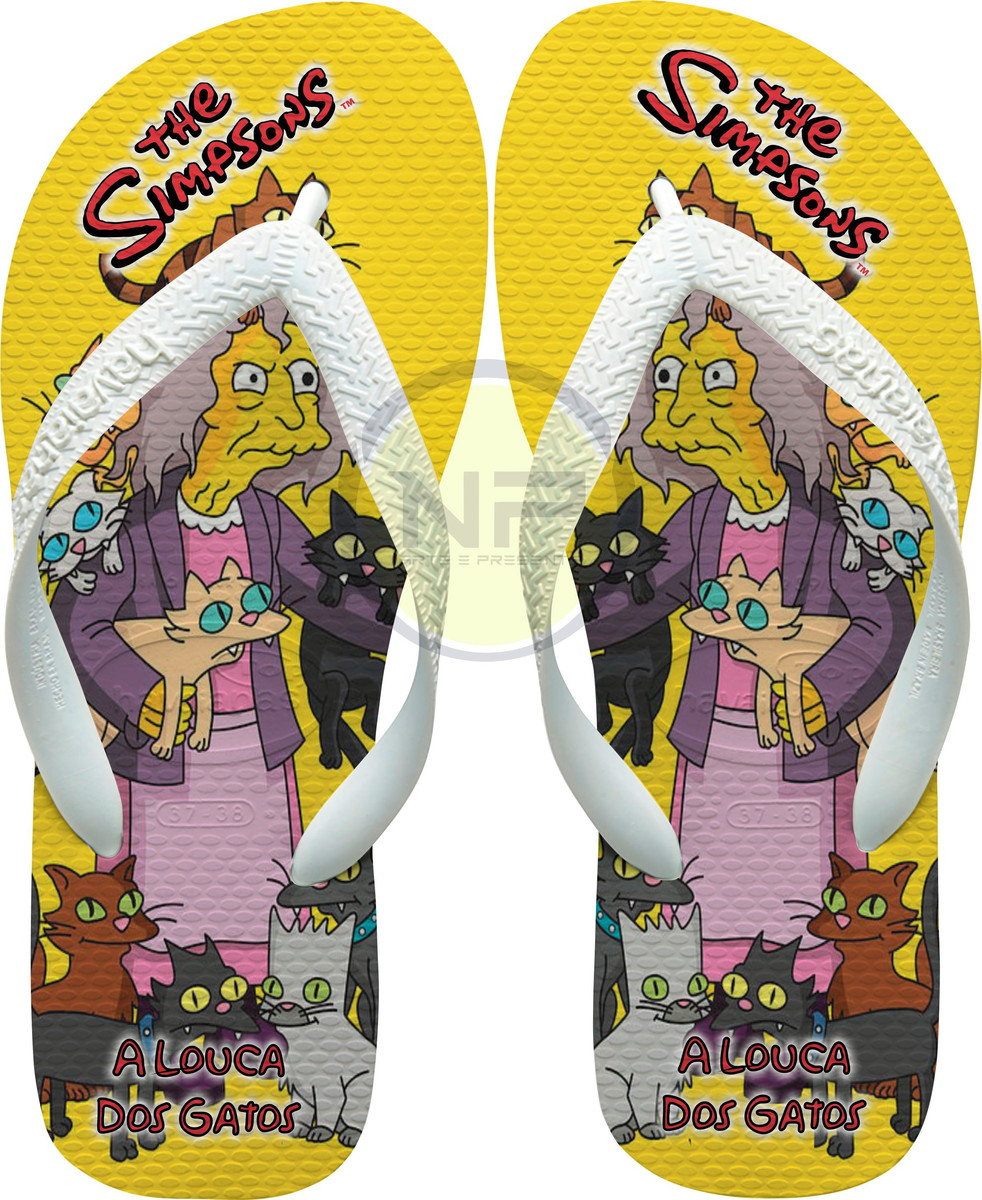 73b6963f1 Chinelo Havaianas Personalizados Simpsons *A Louca dos Gatos no Elo7 ...
