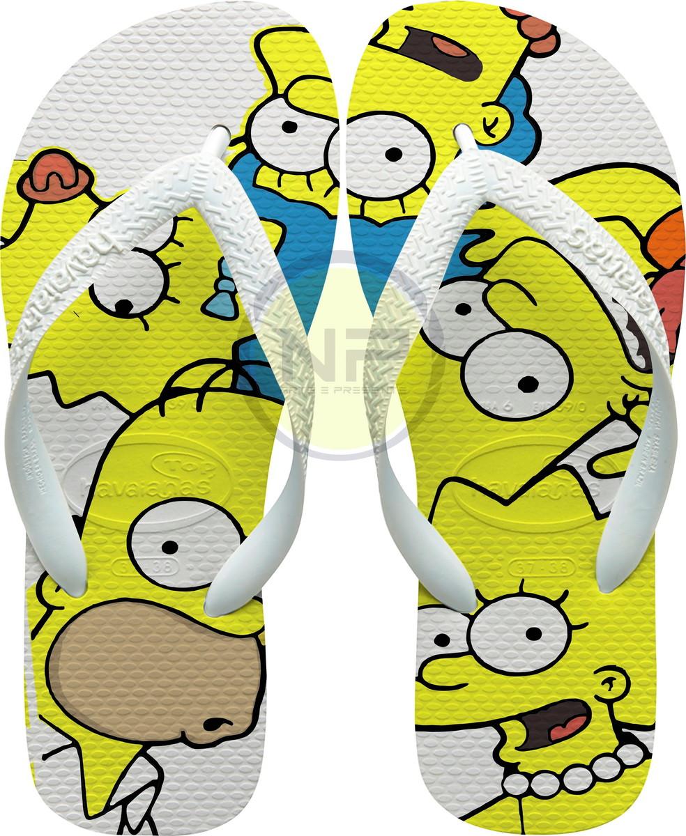 71261e372 Chinelo Havaianas Personalizados Simpsons - Familia no Elo7 | NICK ...