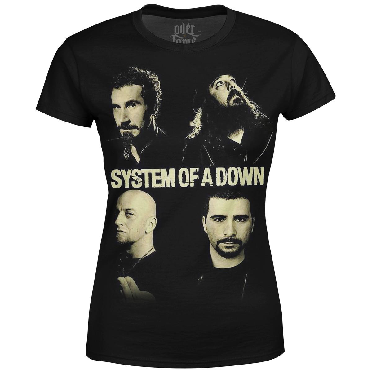 6b43b9a052 Camiseta Baby Look Feminina System of a Down md01 no Elo7