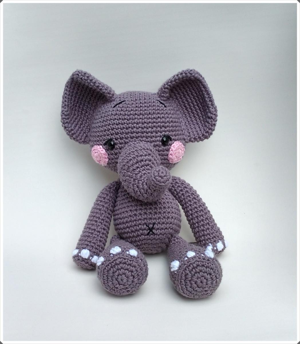 Elefante Nuno Crochê Amigurumi no Elo7 | Amores em Linha (10A02AC) | 1200x1048