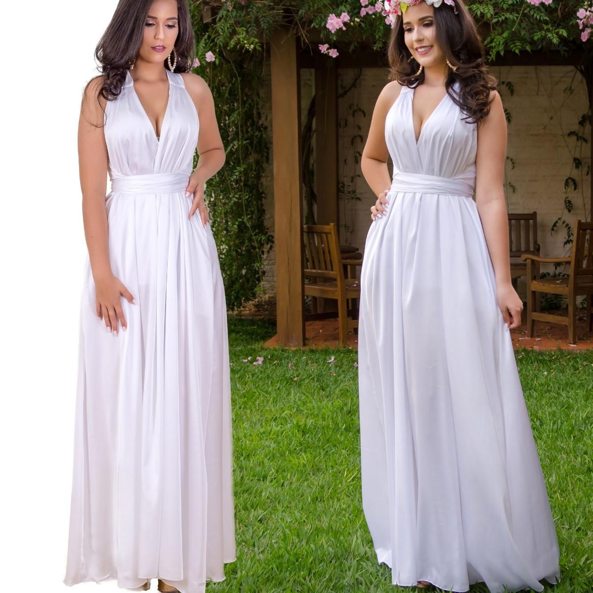 Vestido De Pré Wind Casamento No Civil Casamento No Campo